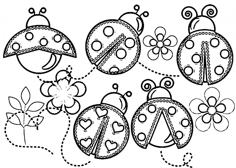 Cute Ladybug Coloring Pages Free Here