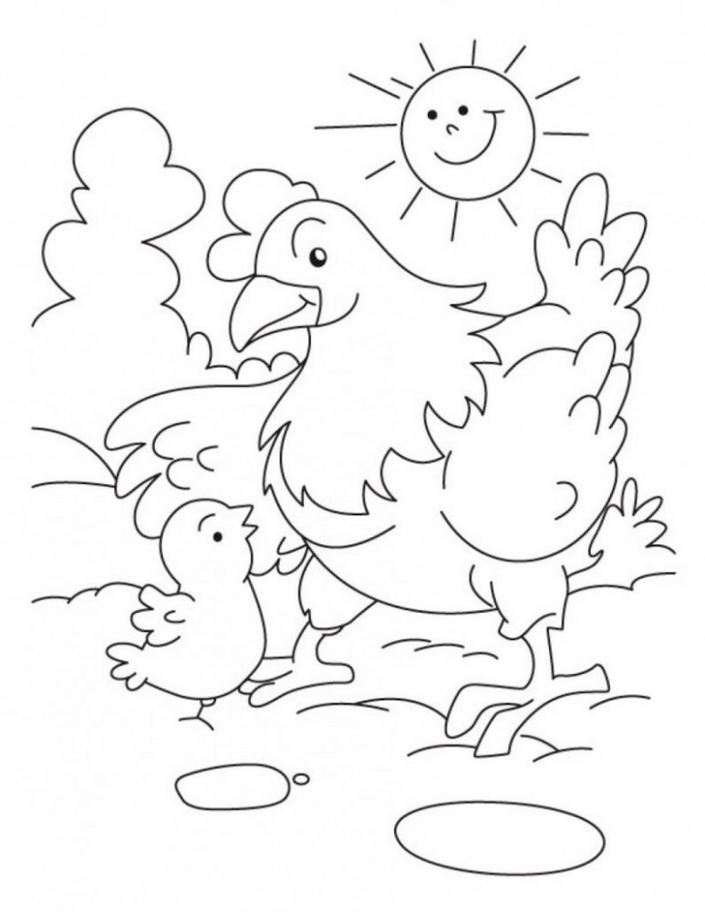 Coloring Pages Of Baby Chickens