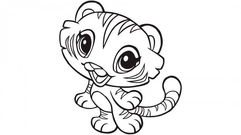 dibujos de tigres para colorear y pintar