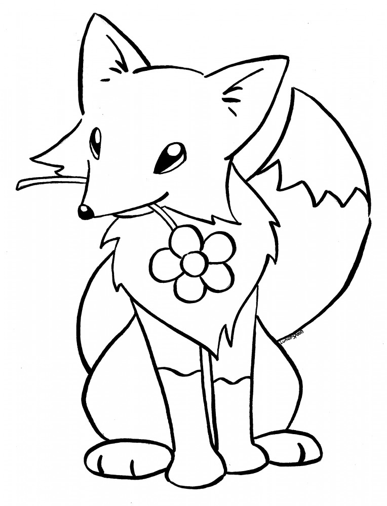 baby arctic fox coloring pages cute - photo #8